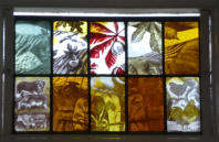 Painted Glass Panel