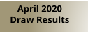 April 2020  Draw Results