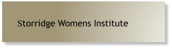 Storridge Womens Institute